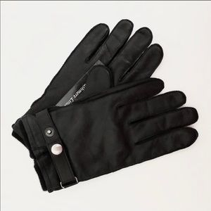 Orvis Black Leather Cashmere Lined Gloves